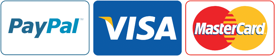 We take PayPal Visa or Mastercard