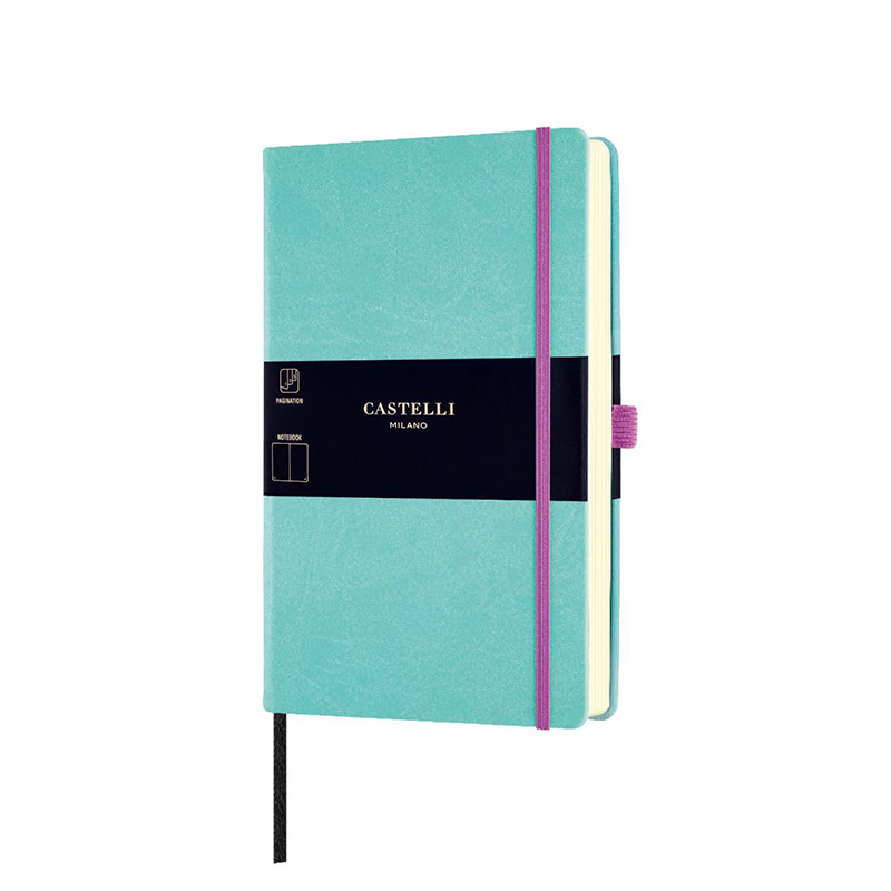Jade Green Castelli Aquarela Plain Notebook 1