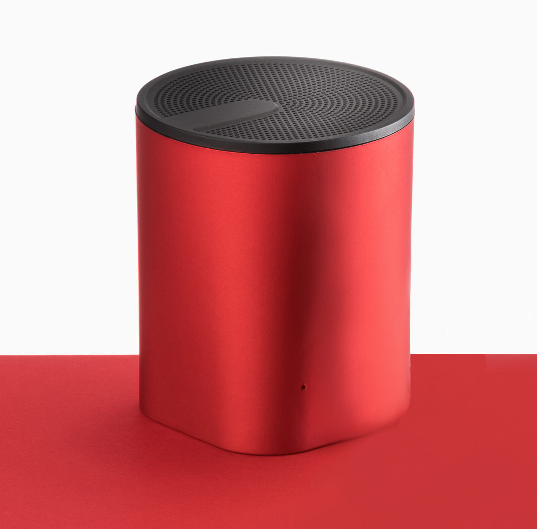 Red Colour Sound Compact Speaker