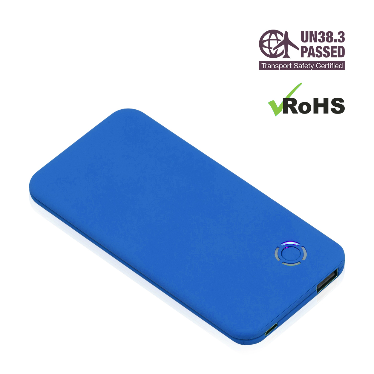 Light Blue Power Bank 4000mAh