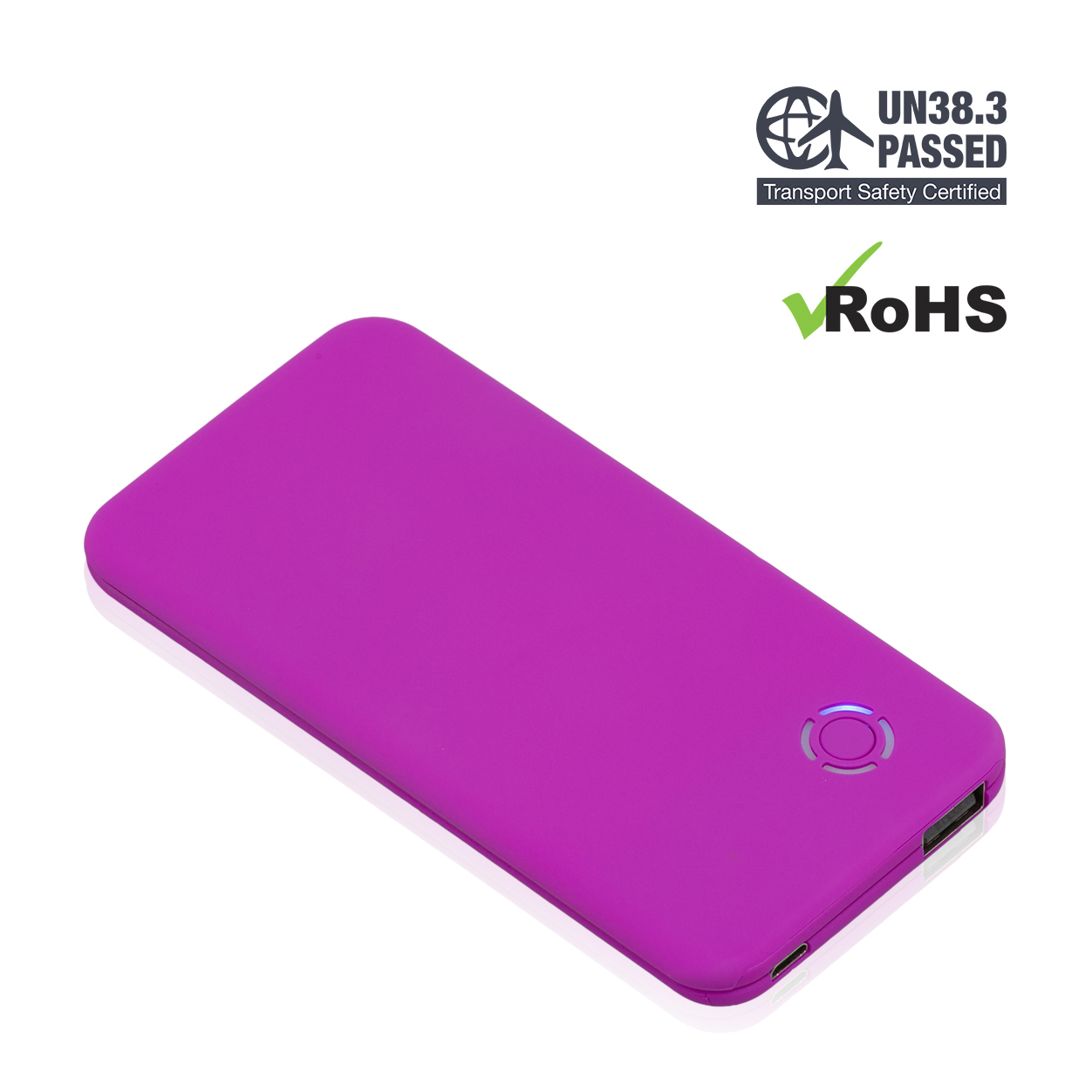 Purple Power Bank 4000mAh