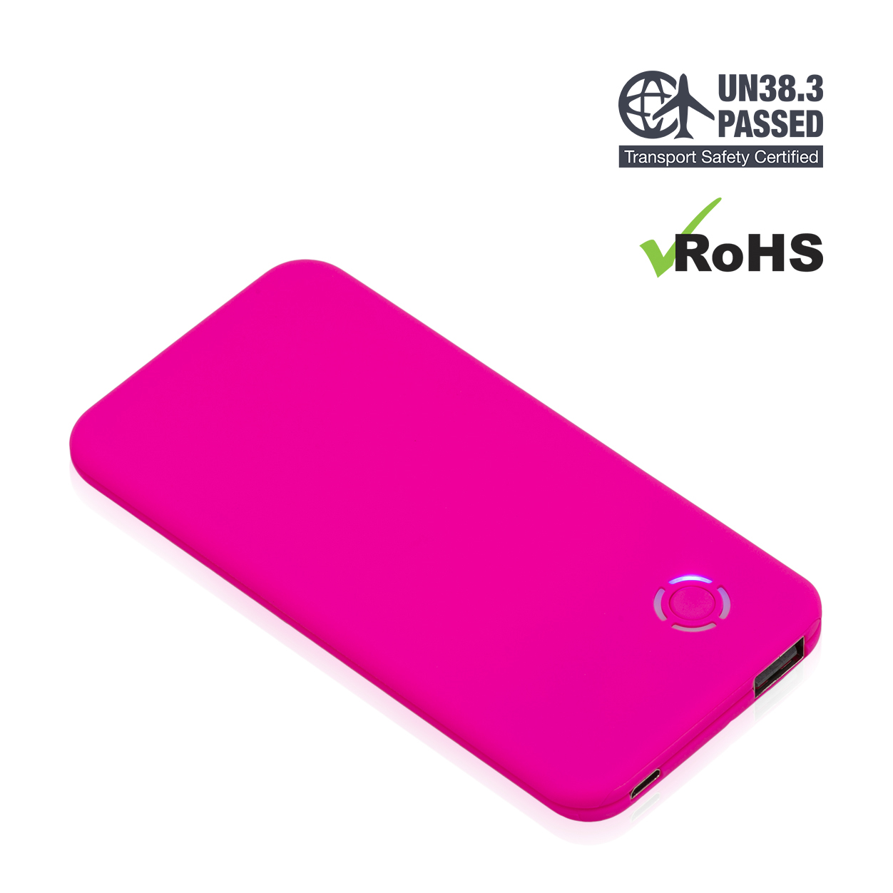 Pink Power Bank 4000mAh