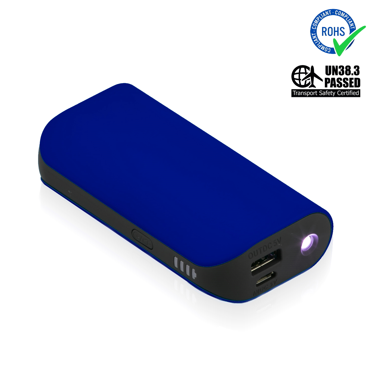 Reflex Blue Power Bank 5200 mAh + LED Torch