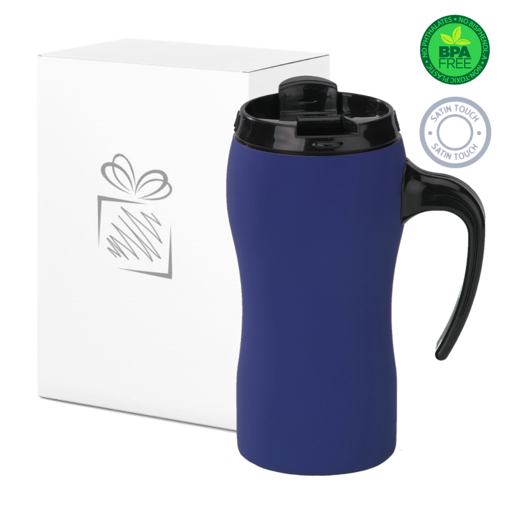 Navy Blue Thermal Mug with Handle (450ml)