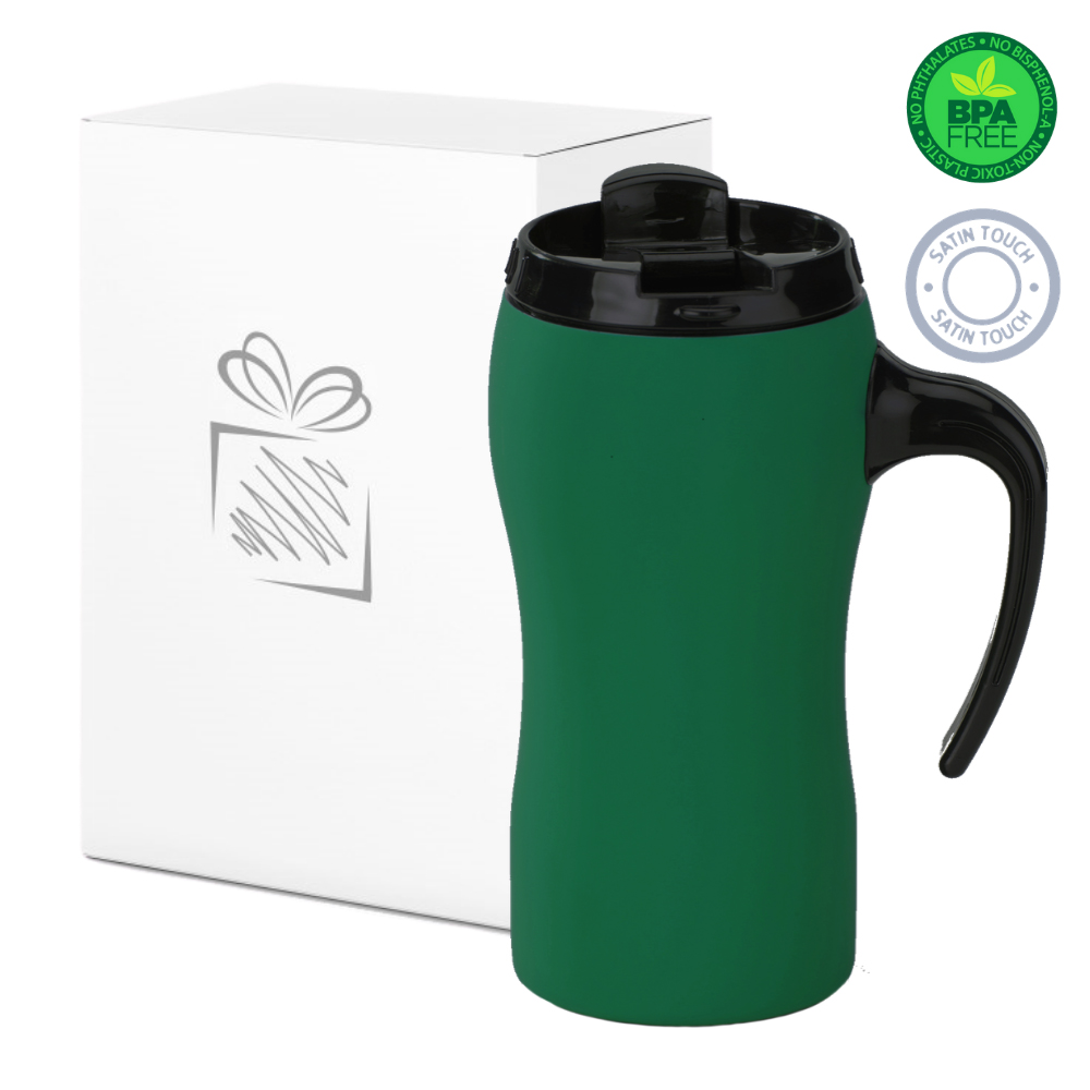 Green Thermal Mug with Handle (450ml)