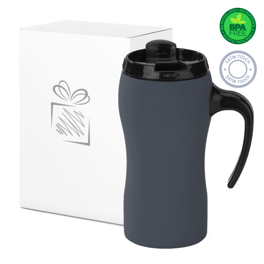 Grey Thermal Mug with Handle (450ml)