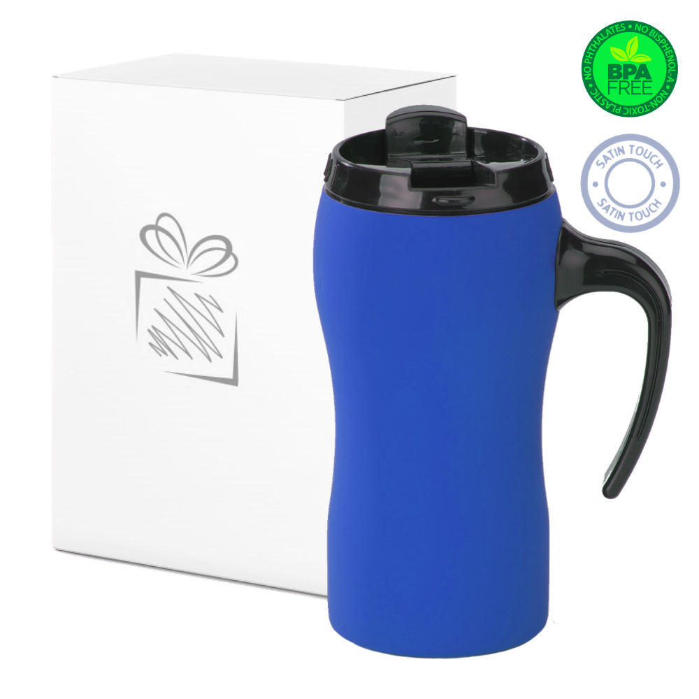 Blue Thermal Mug with Handle (450ml)