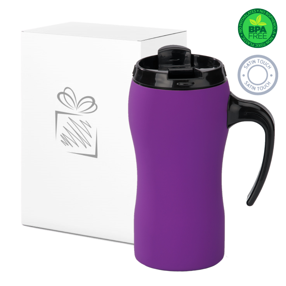 Purple Thermal Mug with Handle (450ml)