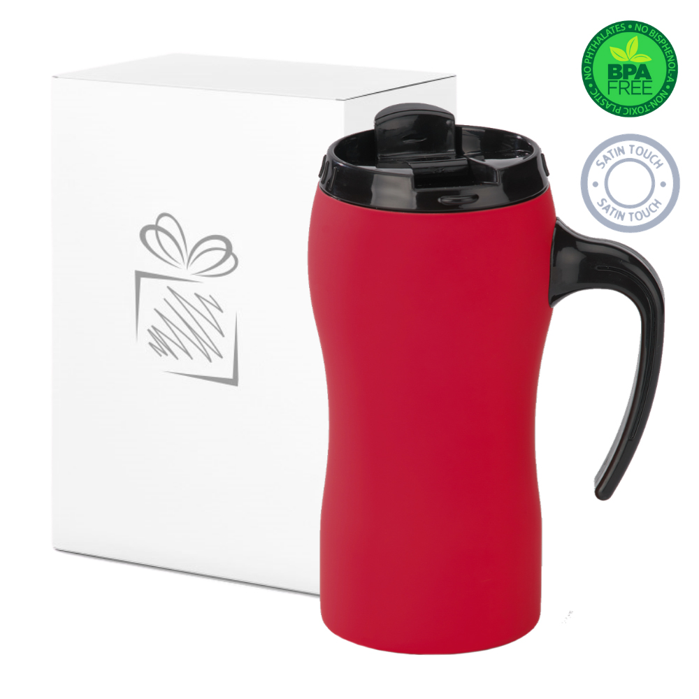 Red Thermal Mug with Handle (450ml)