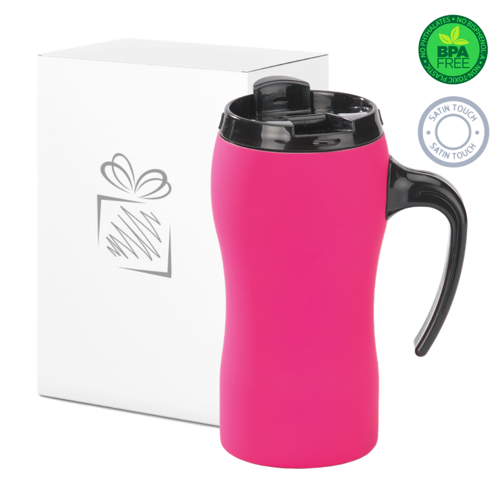 Pink Thermal Mug with Handle (450ml)