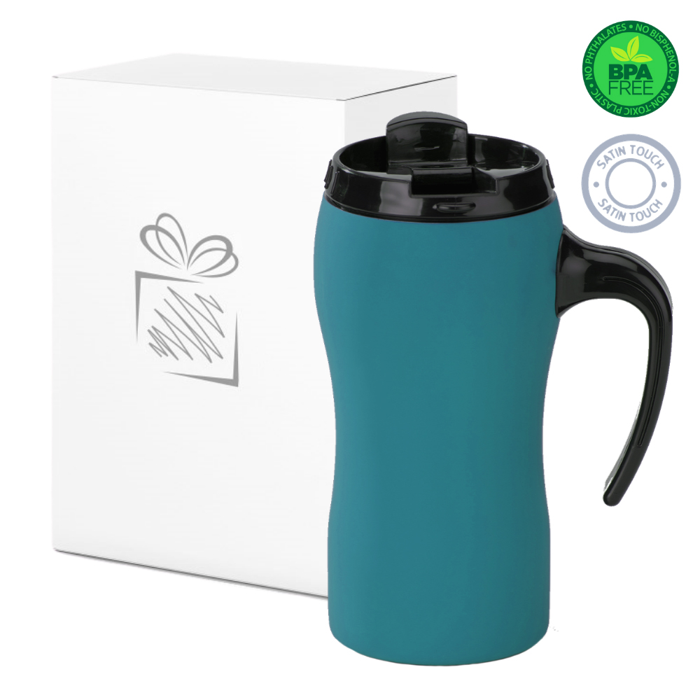 Turquoise Thermal Mug with Handle (450ml)