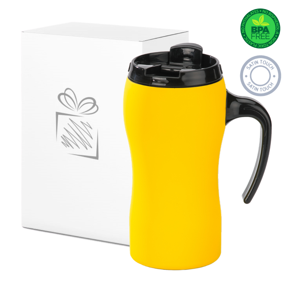 Yellow Thermal Mug with Handle (450ml)