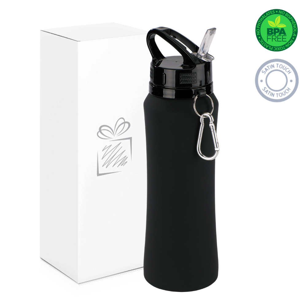 Black 700ml Water Bottle